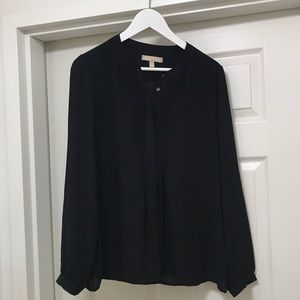 Banana Republic Piped V-Neck Blouse